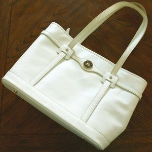 Dooney and Bourke White Leather Shoulder Bag